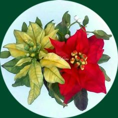 Craciunita din zahar Sugar Flowers, Poinsettia, Plants, Christmas Poinsettia, Flora, Plant, Planting