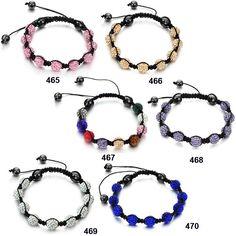 Colorful Pave Crystal Beads Bracelet