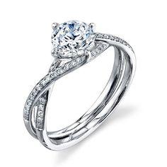 Simon G. Engagement Ring 18 Karat White Gold Ring With 0.15 Carats Rou · MR1394 · Ben Garelick Jewelers
