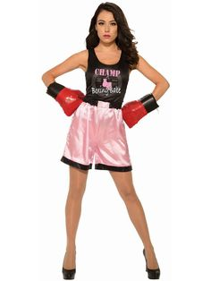 Elegant Moments Prizefighter Boxer MMA Fighter Black /& Pink Costume 4pc