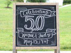 50th Anniversary Chalk Board Design