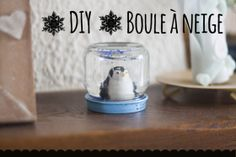 DIY boule à neige Pots, Confectionery, Snow Globes, Diy, Images, How To Make, Decor, Christmas, Fashion