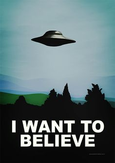 I Want to Believe - Todos   Posters Minimalistas