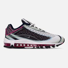 46334078cb771a Right view of Men s Nike Air Max Deluxe Running Shoes in Enamel  Green Metallic Silver