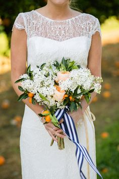 oranges + stripes | Sarah Becker #wedding