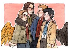 OMG god knows how much i love sabriel and destiel kill me Please, if you use my art, leave a link to my Tumblr or Instagram (или если ты русский ссылку на мой паблос -_- )