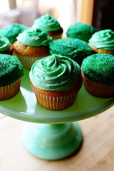 Irish Hills Cupcakes. Perfect for St. Paddy's Day! (And just change up the color of icing and sprinkles to suit any holiday.)