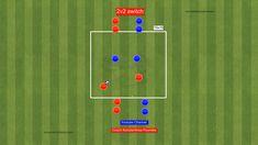 Football Coaching Drills, Soccer Training Drills, Soccer Drills For Kids, Hockey Drills, Soccer Workouts, Soccer Practice, Agility Training, Leg Workout Plan, Football Tactics