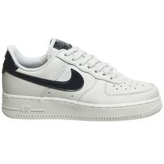 Nike Air Force 1 07 Trainers Vast Grey Obsidian (1.382.970 IDR) ❤ liked on  Polyvore featuring shoes a1034144f