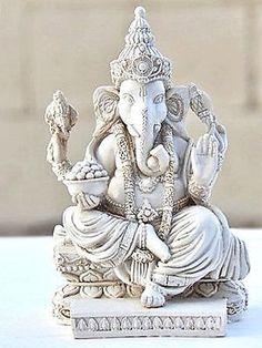 Shri Ganesh! RARE Lord Ganesh Ganesha Beautiful Statues Hindu Good Luck God Statues Size 5 | eBay