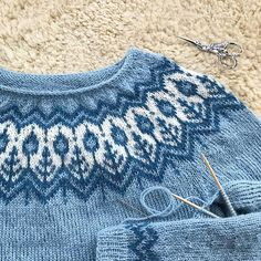 a knit and crochet community Baby Sweater Knitting Pattern, Fair Isle Knitting Patterns, Knitting Stitches, Knit Patterns, Free Knitting, Baby Knitting, Sweater Patterns, Norwegian Knitting, Icelandic Sweaters