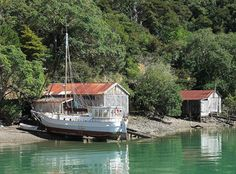 Image result for boat sheds new zealand Boat Shed, Sheds, New Zealand, Beautiful Places, Places To Visit, Houses, Image, Homes, Backyard Sheds
