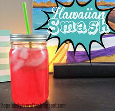 Hawaiian Smash!! Tastes like Hawaiian Punch but for adults. Or keep out the alcohol and make it for a summer cookout. Adults can add their own shots!!