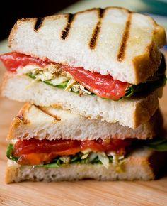 Pan-Seared Tomato and Rosemary Artichoke Sandwich