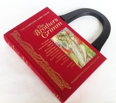 Brothers Grimm Fairy Tales Recycled Book Purse - Your Choice of Purse Handle - PreOrder