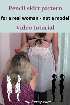 In this sewing tutorial I am going to show you how to make a pencil skirt pattern, what is a good fit for a pencil skirt, what fitting problems you may have with a DIY pencil skirt and why you may have them, how to take proper measurements for a pencil sk Easy Sewing Projects, Sewing Projects For Beginners, Sewing Hacks, Sewing Tutorials, Sewing Tips, Dress Tutorials, Sewing Ideas, Techniques Couture, Sewing Techniques