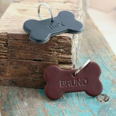 Personalised Leather Dog Name Tag