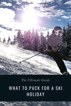 The ultimate guide to packing for a ski holiday, including what to buy before you go, what you can rent out there and handy tips on how to pack. #skiing #skiholiday #winter #travel #snowboarding Ski Trip Packing List, Travel Packing, Winter Destinations, Travel Destinations, Snowboarding, Skiing, Best Countries To Visit, Ski Holidays, Christmas Travel