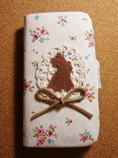 Diy Handmade Cloth Art Flip Cover Case no.53fc Cute Rabbit with Countryside Style for Samsung Galaxy S3 SIII S2 Note iPhone 4 4S HTC One X. $29.99, via Etsy.