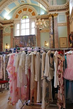 Frock Me vintage fair in Chelsea Town Hall. Generally a bit pricey but so many beautiful things to look at!
