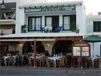 Fachada marítima del Restaurante Es Port de Fornells - Menorca