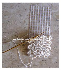 crochet on plastic canvas