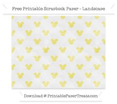 Landscape Straw Yellow Watercolor Small  Mickey Mouse Head Pattern Paper
