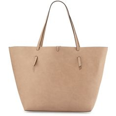 29d5cd8ac4 Neiman Marcus Reversible Faux-Leather Tote Bag ( 60) ❤ liked on Polyvore  featuring