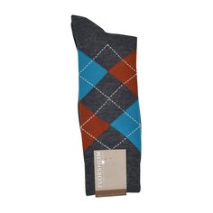 Florsheim Argyle Socks in Grey, Rust, and Teal