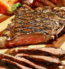 Robert Mondavi Winery - Recipes - Grilled Flat Iron Steak with Maitake Mushrooms and Basil Pesto!