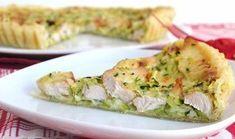 Tarte légère au poulet et aux courgettes WW, recette d'une délicieuse tarte salée et légère à base de courgettes râpées, de poulet et de fromage facile et simple à réaliser pour un repas léger.