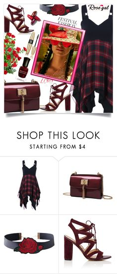 """""""Rosegal  Checked Asymmetric Sleeveless Top"""" by mell-2405 ❤ liked on Polyvore featuring Sam Edelman and Victoria's Secret"""