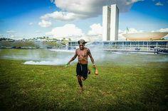 "Brasília - DF - Brasil - 25/04/2017 - ""Demarcação já""!... Brazil"