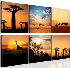 una tela pittorica all'insegna del #relax con immagini paesaggi africani