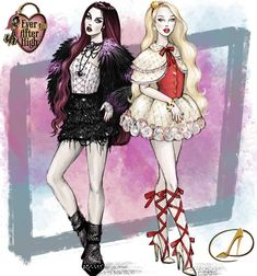 Ever After High, Raven Queen, High Art, Anime Outfits, Monster High, Rebel, Fairy Tales, Illustration Art, Kawaii