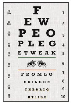 Eye Chart Poster Print, Quote Print, Vintage Eye Chart, Inspirational Quote…