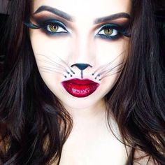 Stunning halloween sexy cat make up idea