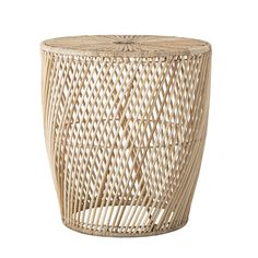 This Abeline side table is bound to complement your home. Made from woven rattan, it's simple look will add a touch of character to your living room. Ceramic Planters, Ceramic Bowls, Rattan Side Table, Iron Shelf, Striped Cushions, Iron Table, Nature Table, Black Glass, Cleaning Wipes