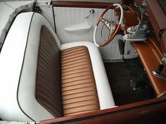 1000 images about vintage car interiors on pinterest upholstery hot rods and chester county. Black Bedroom Furniture Sets. Home Design Ideas