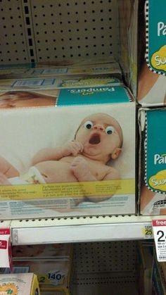 Guy plants Googly Eyes on things at Target- 23 more pics at the link. Hilarious!