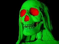 Halloween Ghost Decoration Animated Prop Real Skeleton Prop Blacklight Reactive