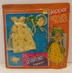 1977 SKIPPER Flower Girl in a Party Whirl GET-UPS 'N GO Clothes Barbie Fashions #Mattel