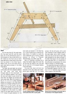 Deck Furniture Plans - Outdoor Furniture Plans and Projects - Woodwork, Woodworking, Woodworking Tips, Woodworking Techniques Outdoor Furniture Plans, Deck Furniture, Pallet Furniture, Furniture Ideas, Woodworking Techniques, Woodworking Projects, Built In Bench, Adirondack Chairs, Wood Working