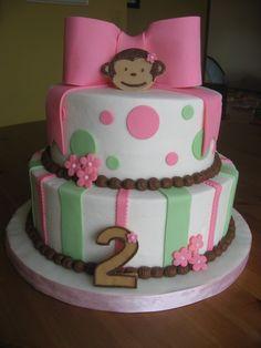 Girl Monkey Cake