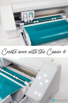 The Cameo 4 is a width desktop cutting machine that lets you make precision cuts in vinyl, cardstock, fabric, and more. Silouette Cameo Projects, Silhouette Cameo Tutorials, Silhouette Cameo Machine, Silhouette Projects, Silhouette Design, Vinyl Crafts, Vinyl Projects, Cricut Craft Room, Desktop