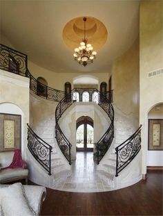 House Plan 101-1353 foyer stair case
