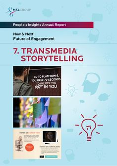What do the Old Spice Man, True Blood's launch campaign, the Dark Knight 'Why So Serious' alternate reality game and Barbie & Ken's Reunion have in common? Apart from being seriously awesome digital campaigns, they're all examples of Transmedia Storytelling    7-transmedia-storytelling-ten-frontiers-for-the-future-of-engagement by MSLGROUP