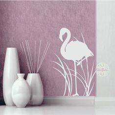 vinilo decorativo pared, living, dormitorio, animales, flamenco, juncos Ideas, Home Decor, Home, Stained Glass Windows, Flamingo, Yurts, Animales, Interiors, Blue Prints