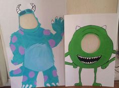Monsters inc Party Photo booth Monster University Birthday, Monster Inc Party, Monster Birthday Parties, Monsters Inc Room, Monsters Inc Baby Shower, 1 Year Old Birthday Party, 1st Birthday Party Supplies, Cute Happy Birthday, Baby First Birthday