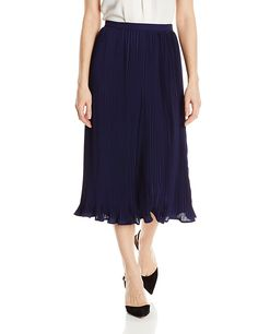 Greylin Women's Jennel Pleated Midi Skirt -- This is an Amazon Affiliate link. Check out the image by visiting the link.